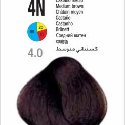 Coloração Colorly 2020 Itely 4N (4.0) - Castanho Medio 60g-272
