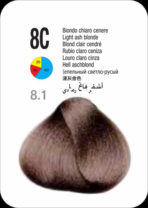 Coloração Colorly 2020 Itely 8C (8.1) -LOURO CINZA CLARO 60G-281