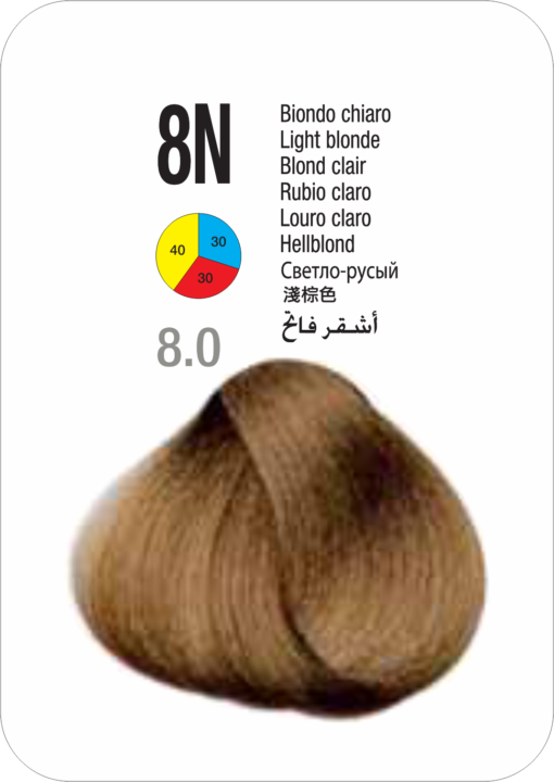 Coloração Colorly 2020 Itely 8N (8.0)- LOURO CLARO 60G-276