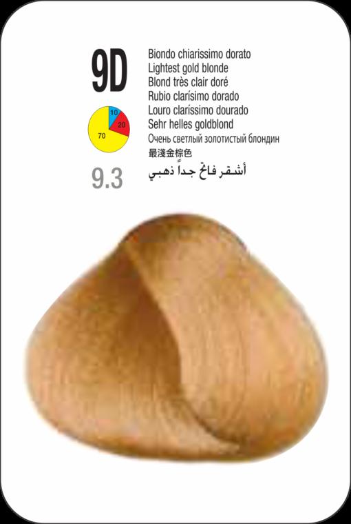 Coloração Colorly 2020 Itely 9D (9.3) - LOURO CLARISSIMO DOURADO 60G-291